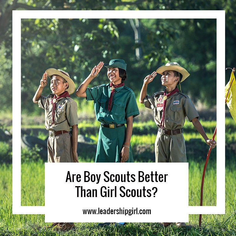 """Are Boy Scouts Better Than Girl Scouts?"" Boy Scouts Graphic"