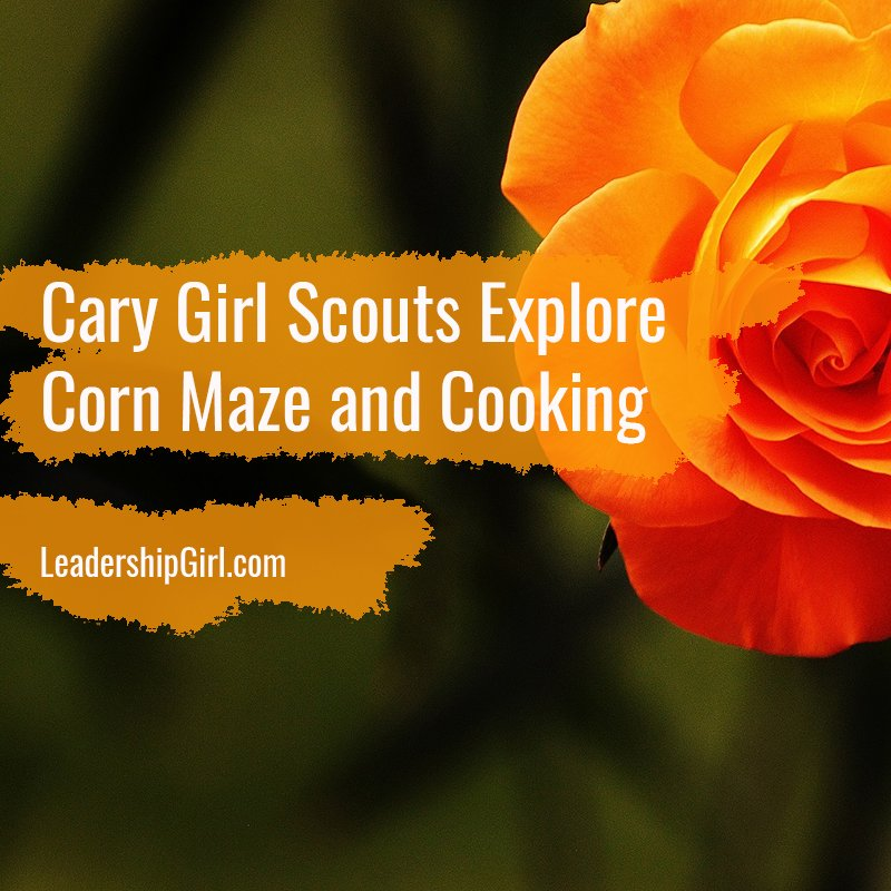 Cary Girl Scouts Explore Corn Maze and Cooking