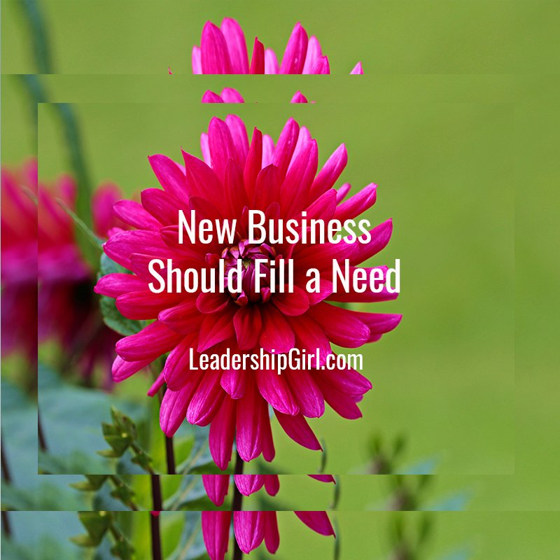 New Business Should Fill a Need