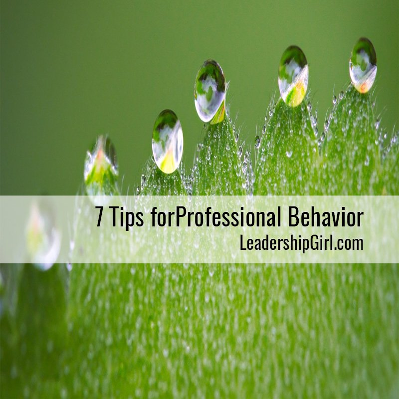 7 Tips for Professional Behavior