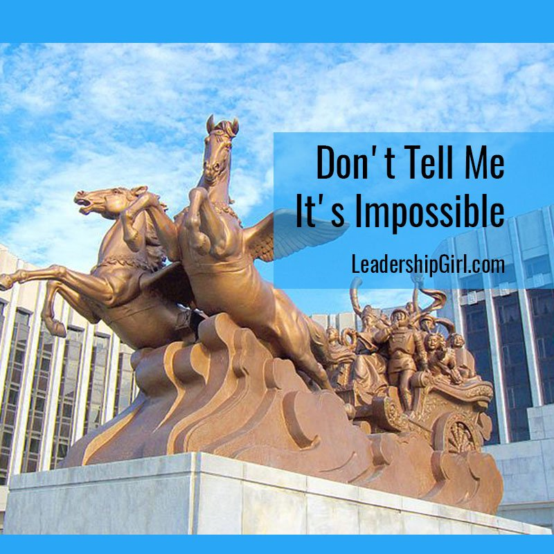 """Don't Tell Me It's Impossible"" Statue"