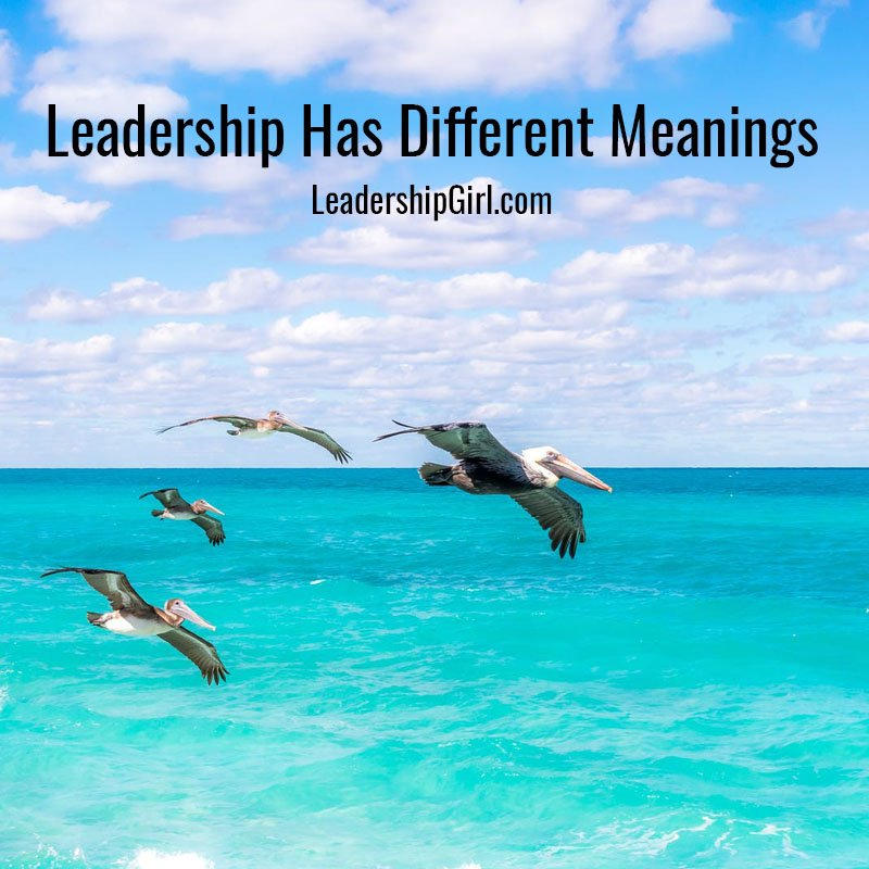 Leadership Has Different Meanings