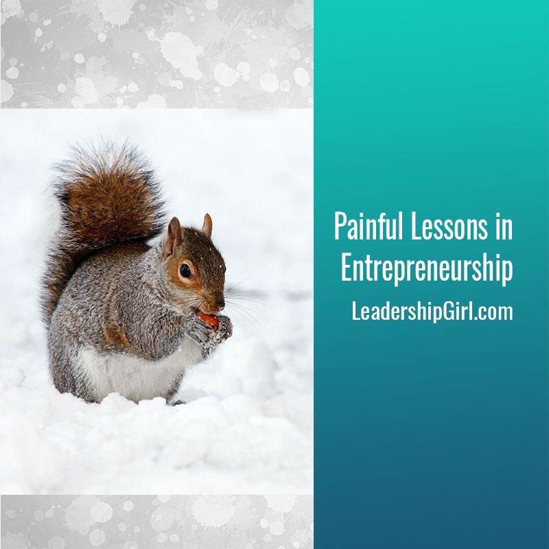 Painful Lessons in Entrepreneurship