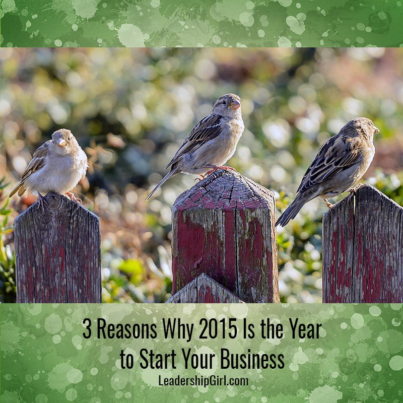 3 Reasons Why 2015 Is the Year to Start Your Business