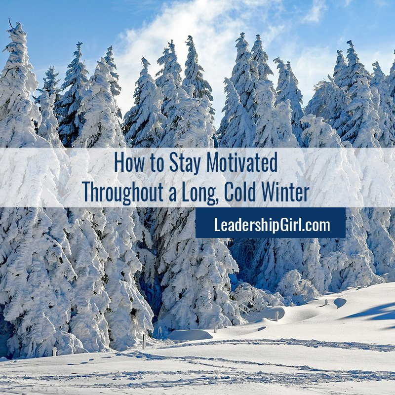 """How to Stay Motivated Throughout a Long, Cold Winter"" Snowy Forest"