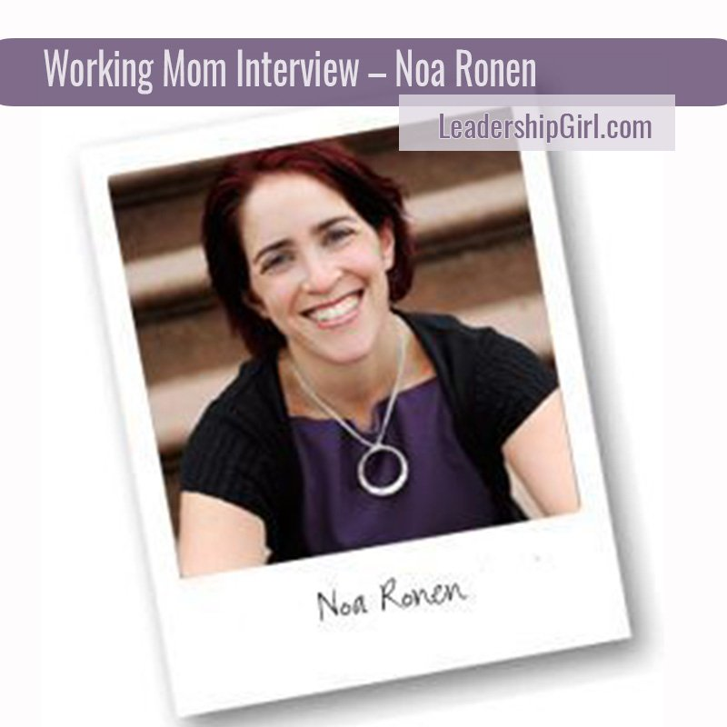 """Working Mom Interview - Noa Ronen"" Noa Ronen"