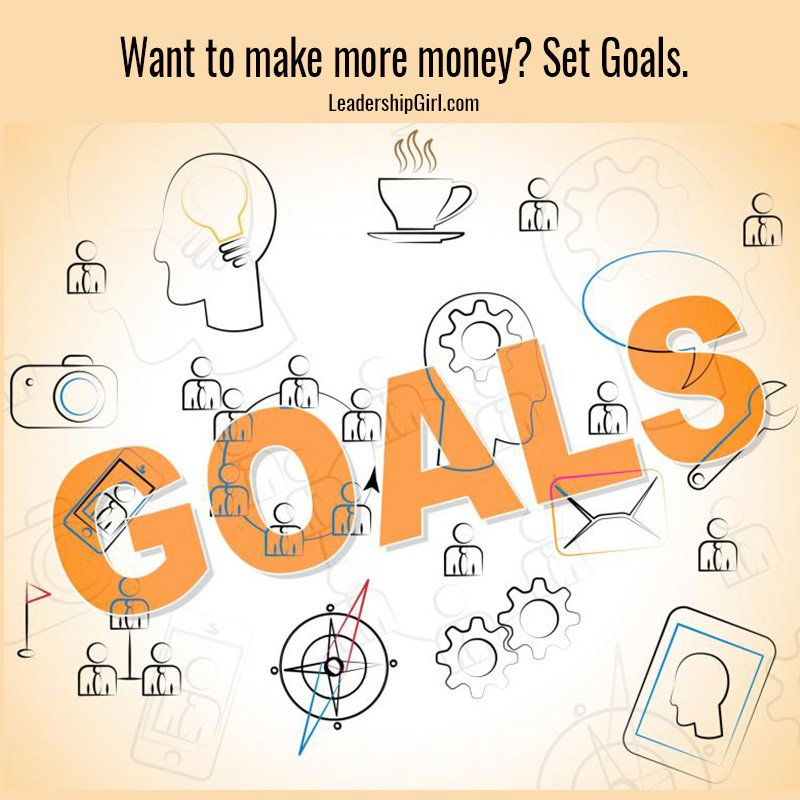 Want to make more money? Set Goals.