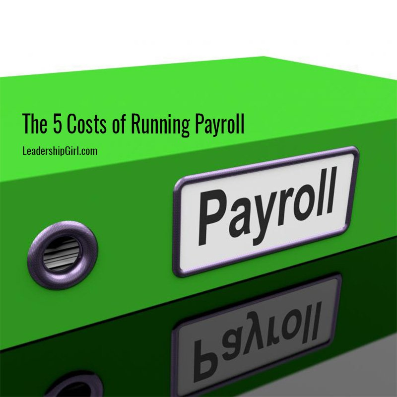 """""""The 5 Costs of Running Payroll"""" Payroll Binder Graphic"""