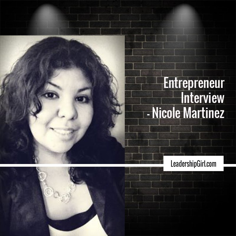 """Entrepreneur Interview - Nicole Martinez"" Nicole Martinez Graphic"