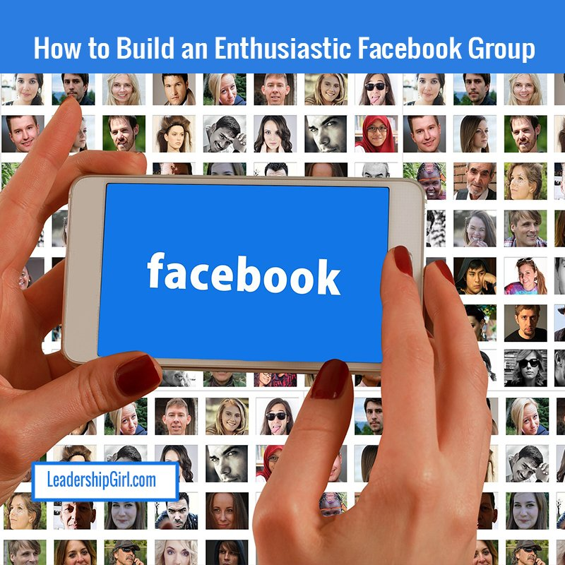 """How to Get People Into Your Facebook Group"" Facebook App and Profile Pictures Graphic"