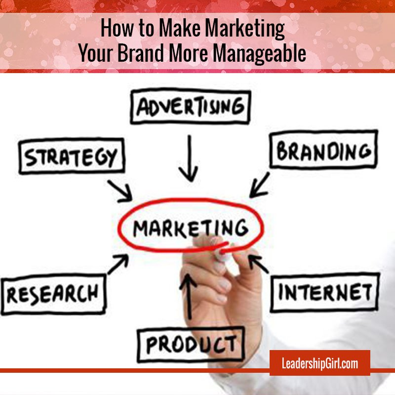 """How to Make Marketing Your Brand More Manageable"" Marketing Strategy Marker Chart Graphic"