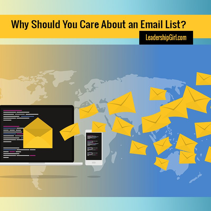 """Why Should You Care About an Email List?"" Email Graphic"