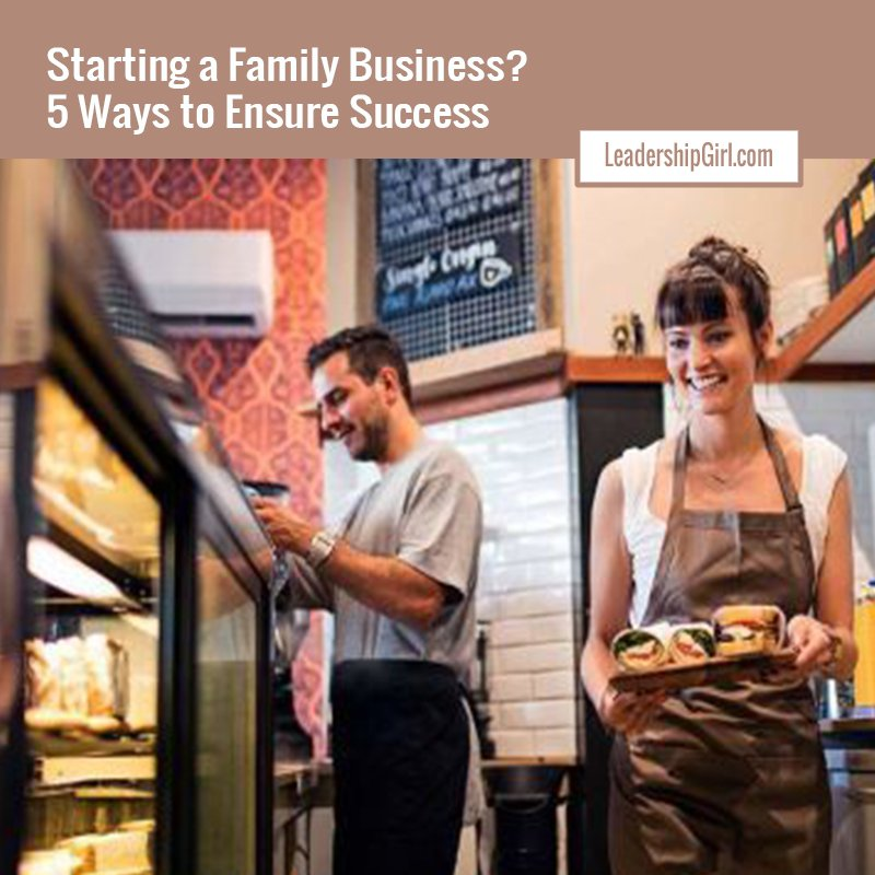 """Starting a Family Business? 5 Ways to Ensure Success"" Bakery Graphic"