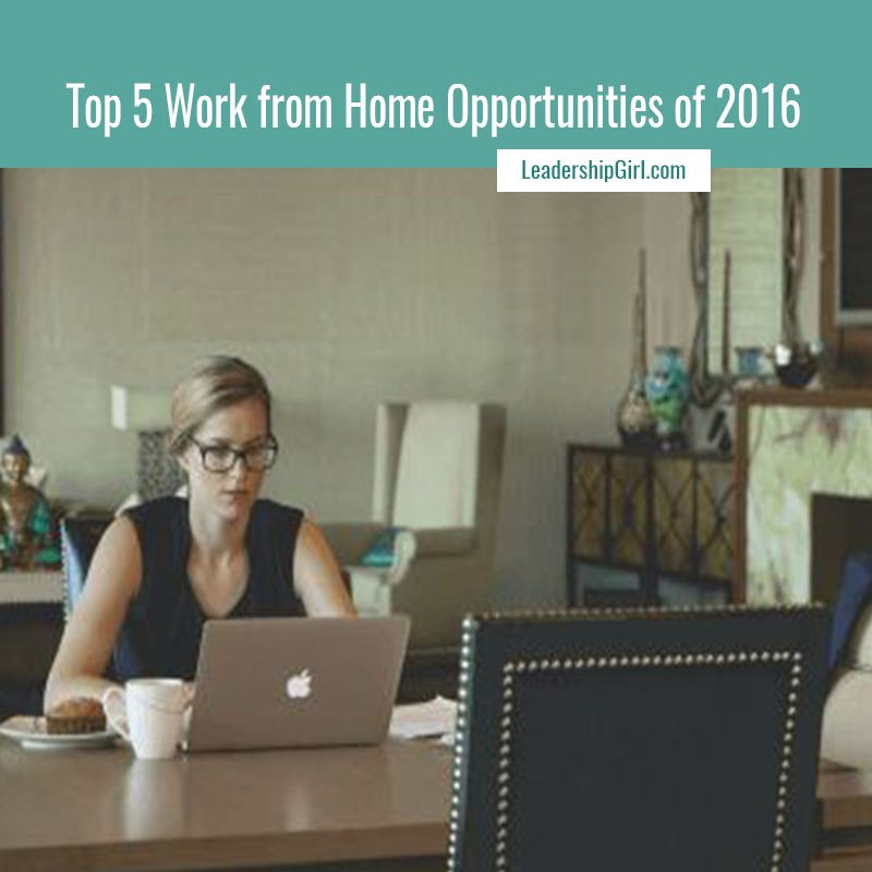 Top 5 Work from Home Opportunities of 2016