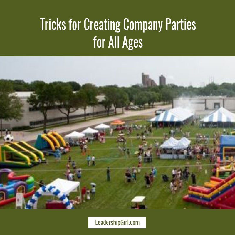 """Tricks for Creating Company Parties for All Ages"" Festival on Field Graphic"