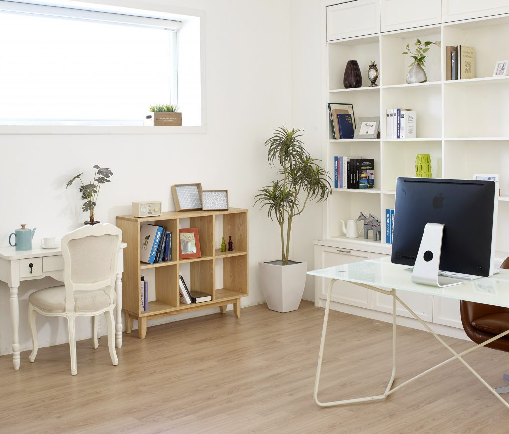 Minimalist White Home Office