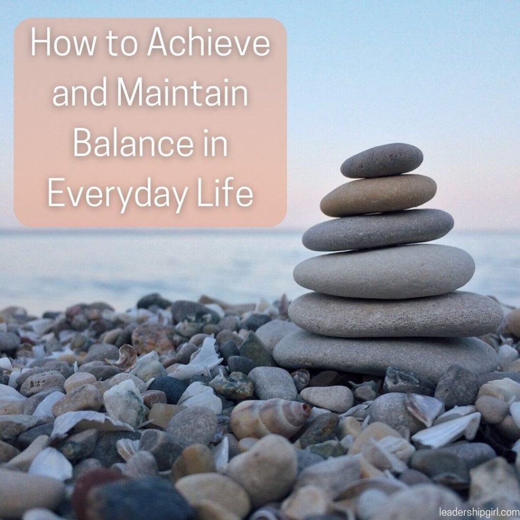 """""""How to Achieve and Maintain Balance in Everyday Life"""" Rock Stack"""