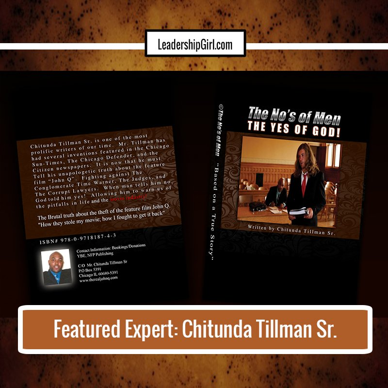 """Featured Expert: Chitunda Tillman Sr."" Book Covers Graphic"