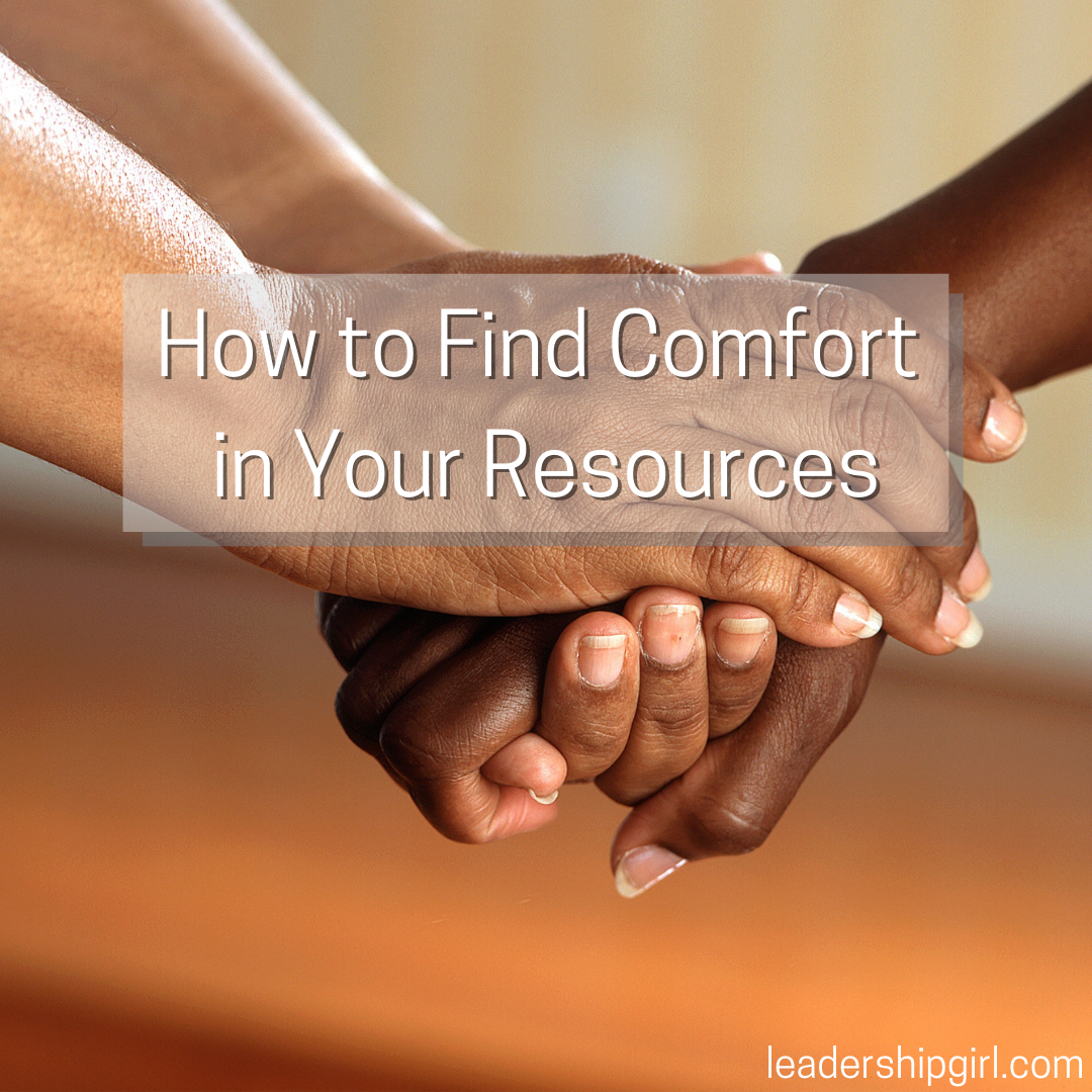 """How to Find Comfort in Your Resources"" Holding Hands"