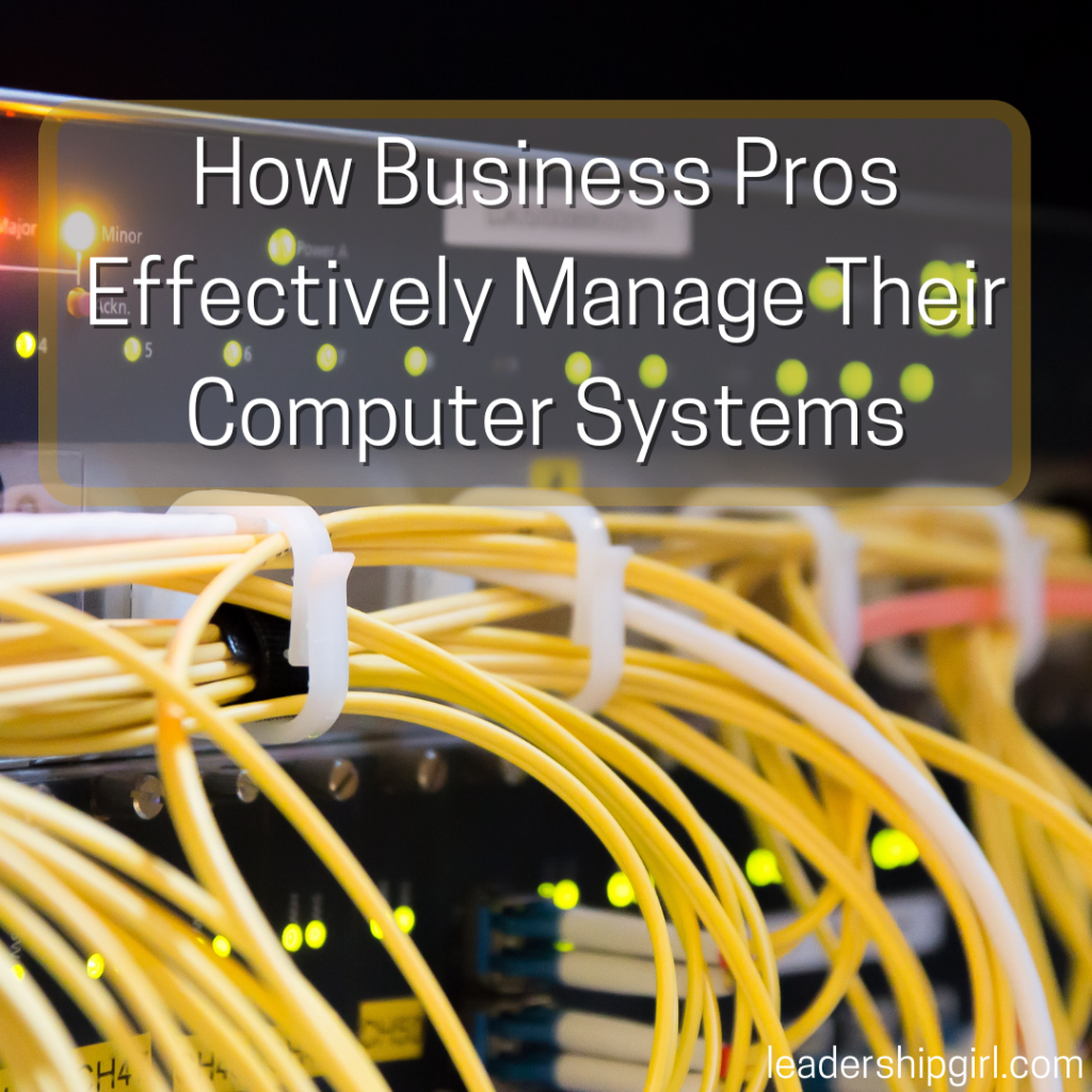 """""""How Business Pros Effectively Manage Their Computer Systems"""" Wiring"""