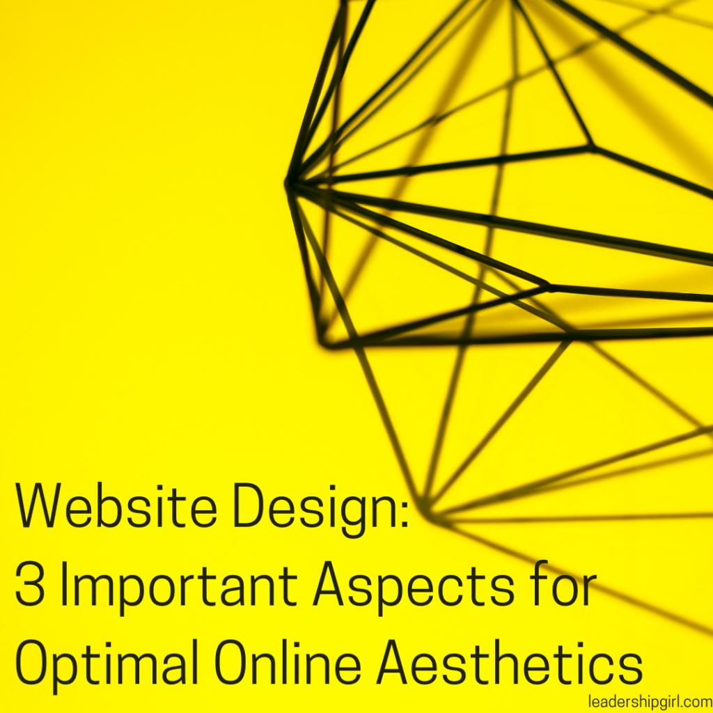 """Website Design: 3 Important Aspects for Optimal Online Aesthetics"" Geometric Shape on Yellow"