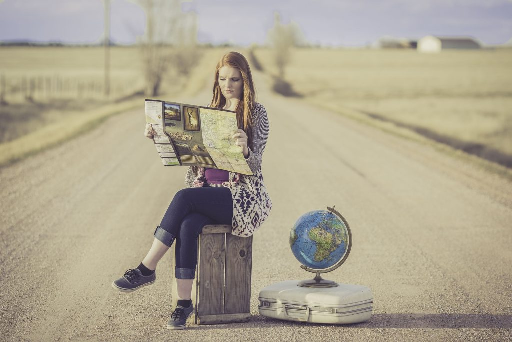 Travel Woman with Map