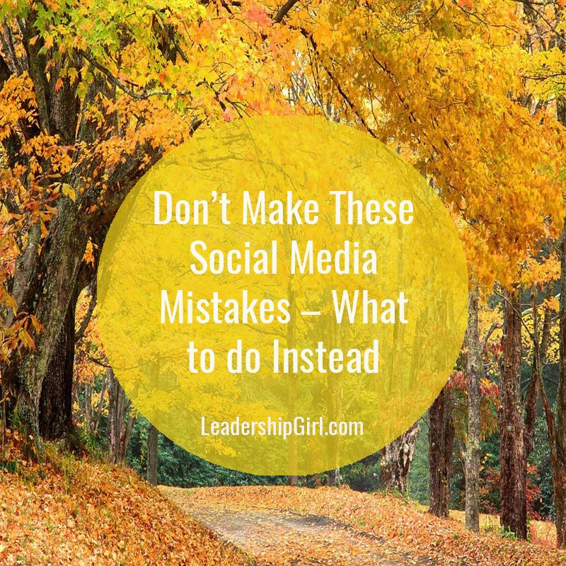 """Don't Make These Social Media Mistakes - What to do Instead"" Fall Road"