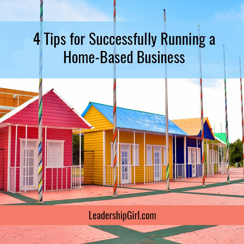 """4 Tips for Successfully Running a Home-Based Business"" Colorful Row of Homes"