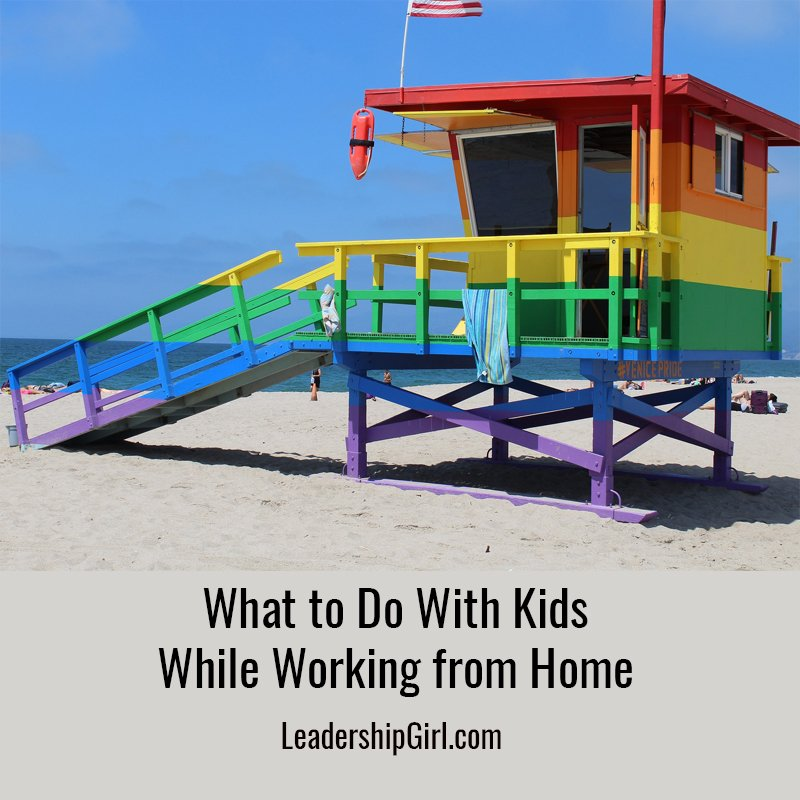 """What to Do With Kids While Working from Home"" Rainbow Lifeguard Hut"