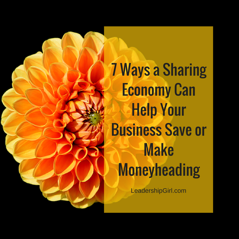 """7 Ways a Sharing Economy Can Help Your Business Save or Make Money"" Orange Flower"