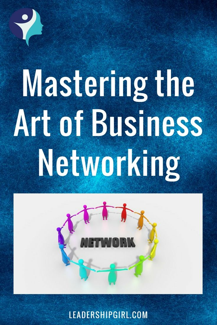 """What You Need to Know to Master the Art of Business Networking"" Circle of People Graphic"
