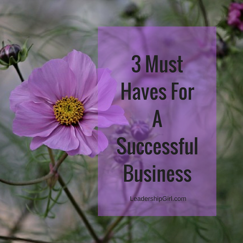 """3 Must Haves For A Successful Business"" Purple Flowers"