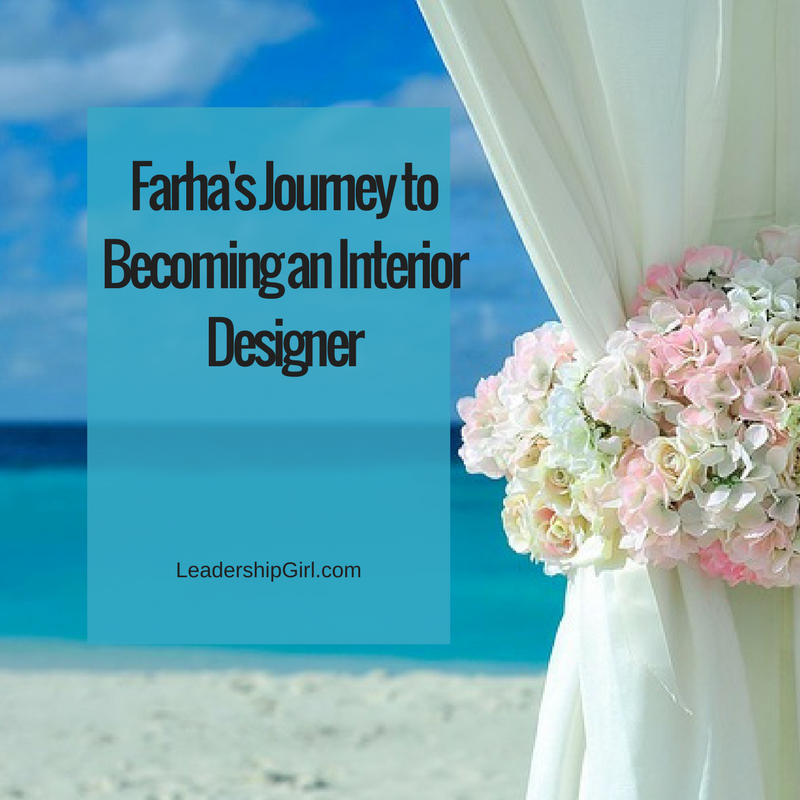 """Farha's Journey to Becoming an Interior Designer"" Beach Cabana"