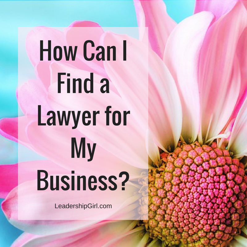 """How Can I Find a Lawyer for My Business?"" Pink Flower"
