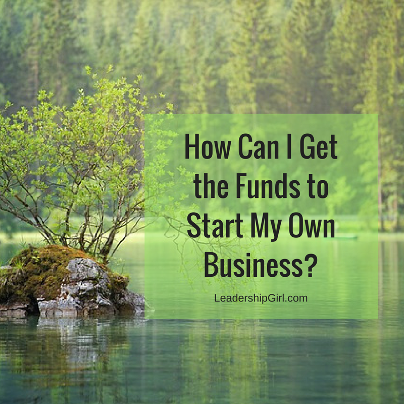"""How Can I Get the Funds to Start My Own Business?"" Tree and Rock in Lake"