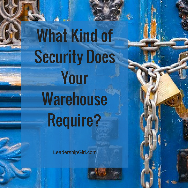 """What Kind of Security Does Your Warehouse Require?"" Chained Door"