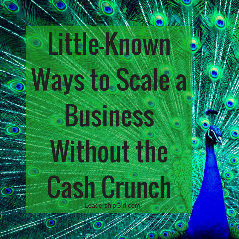 """Little-Known Ways to Scale a Business Without the Cash Crunch"" Peacock Graphic"