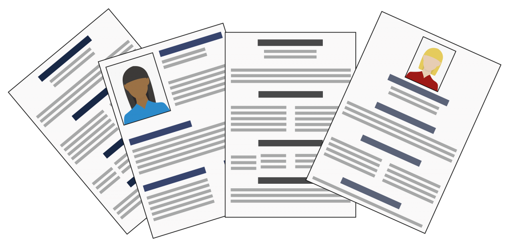 Four Resumes Graphic