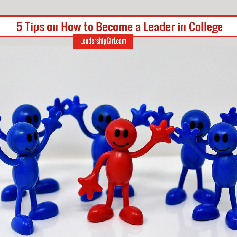"""5 Tips on How to Become a Leader in College"" Figurines Graphic"