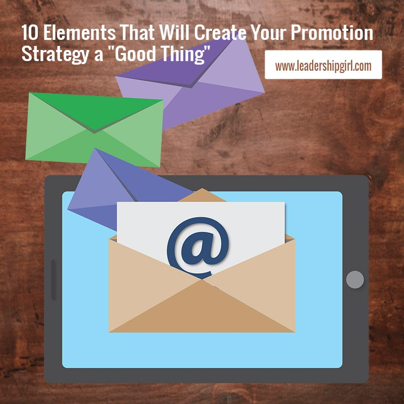 """10 Elements That Will Create Your Promotion Strategy a ""Good Thing"""" Envelopes Graphic"
