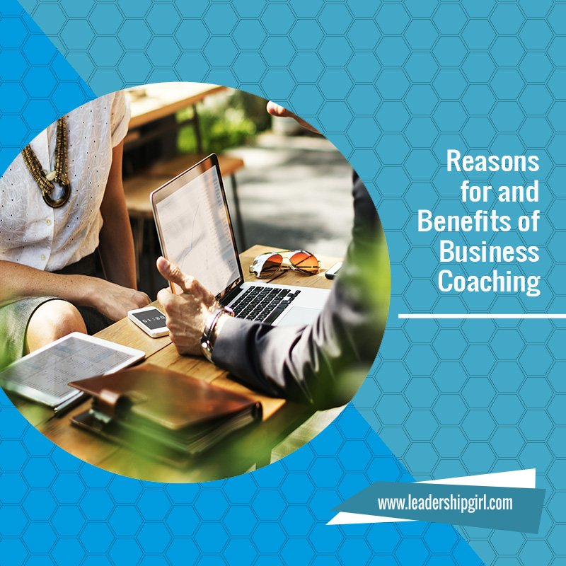 """Reasons for and Benefits of Business Coaching"" Meeting Graphic"