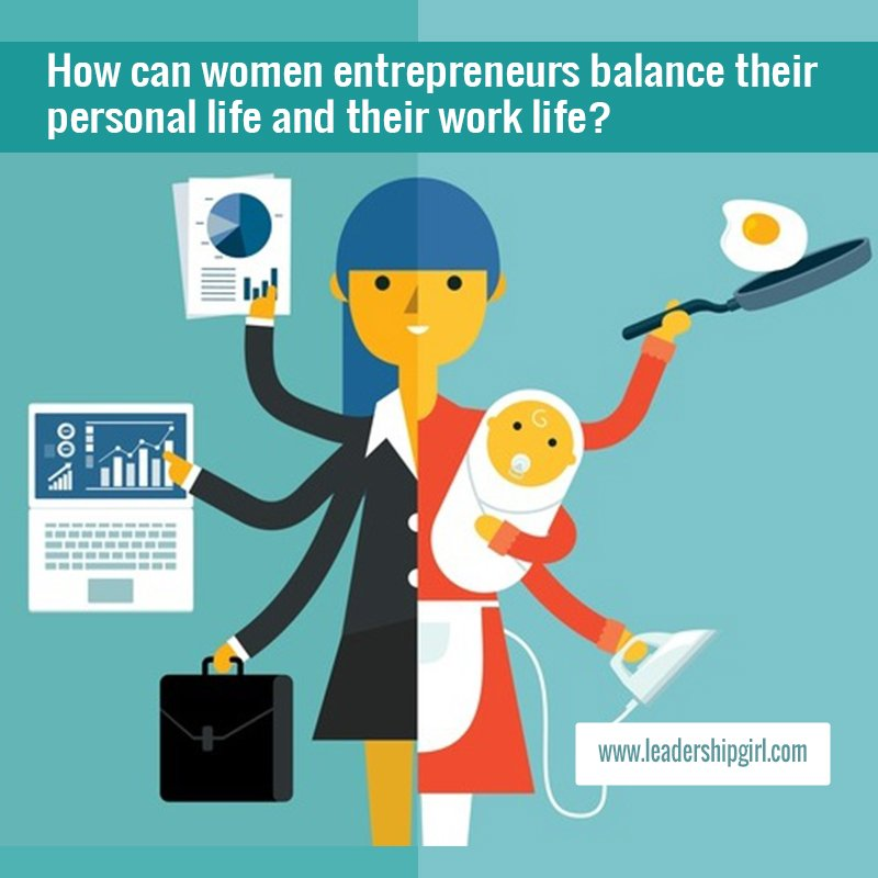 """How can Women Entrepreneurs Balance their Personal Life and their Work Life?"" Working Mother Graphic"