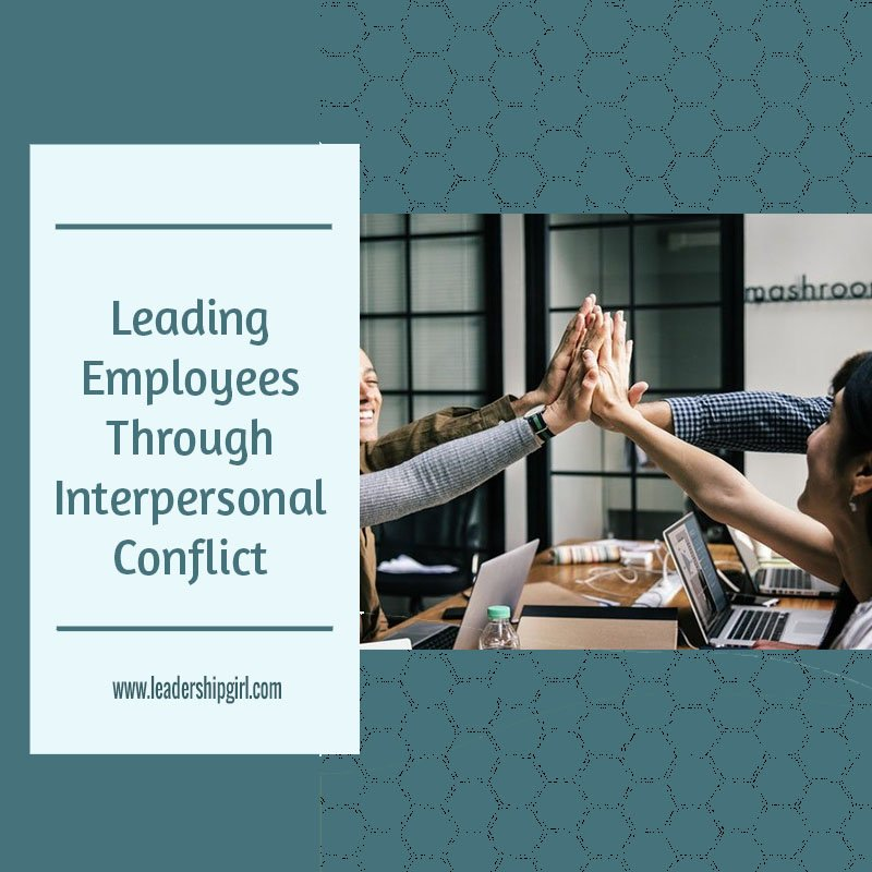 """Leading Employees Through Interpersonal Conflict"" Teamwork High Five Graphic"
