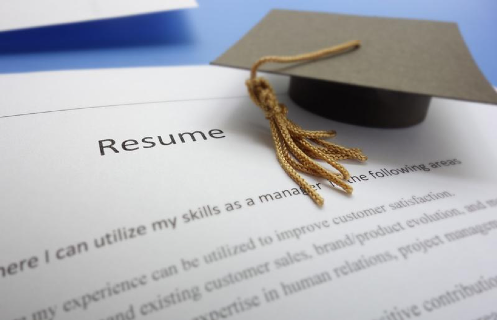 Resume and Graduate Cap