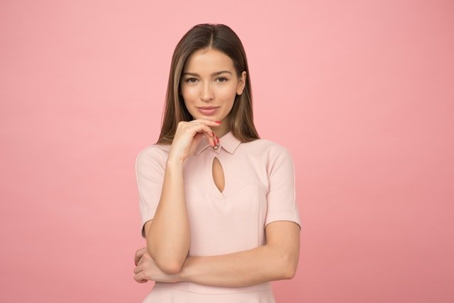 Businesswoman with Pink Background