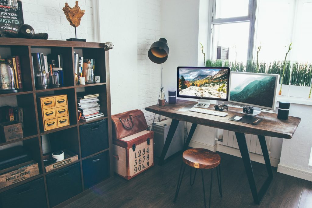Neat and Organized Office Desk Space