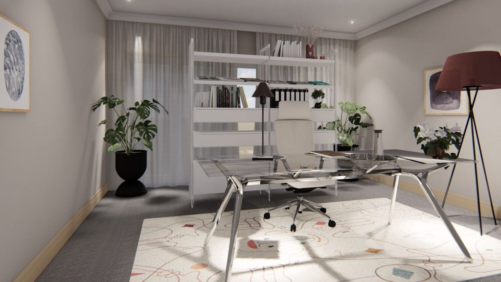 White Eco-Friendly Office Space