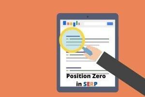 SERP Position Zero